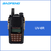 BAOFENG UV-6R VHF UHF Handheld Interphone with LCD Receiver 128 Chs 1750Hz Call Tone CB Radio DTMF Encode Emergency Alarm VOX(China)