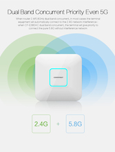 1750Mbps 2.4G+5.8G dual-band Wifi Access Point WiFi coverage 11AC wifi router CF-E380AC ceiling wireless AP support openWRT
