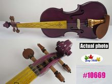 Purple colors best craft electric & acoustic violin 4/4 #10669(China)