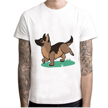 german shepherd 2017 fashion short t shirt printed Funny t-shirt men tops MCR142(China)