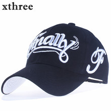 [Xthree]100% cotton baseball cap women casual snapback hat for men casquette homme Letter embroidery gorras(China)