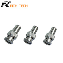 BNC Male to RCA Female Coax Cable Connector Adapter F/M Coupler for CCTV Camera 3pcs/lot