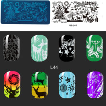 1PCS Christmas Cart Pattern Nail Art Stamp Stamping Plates Template Image Plate QJ-L44(China)