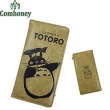 Totoro Ladies Wallet PU Leather Tokyo Ghoul Women Men's Wallet Japanese Anime Print Hatsune Miku Long Purse with Card Holder