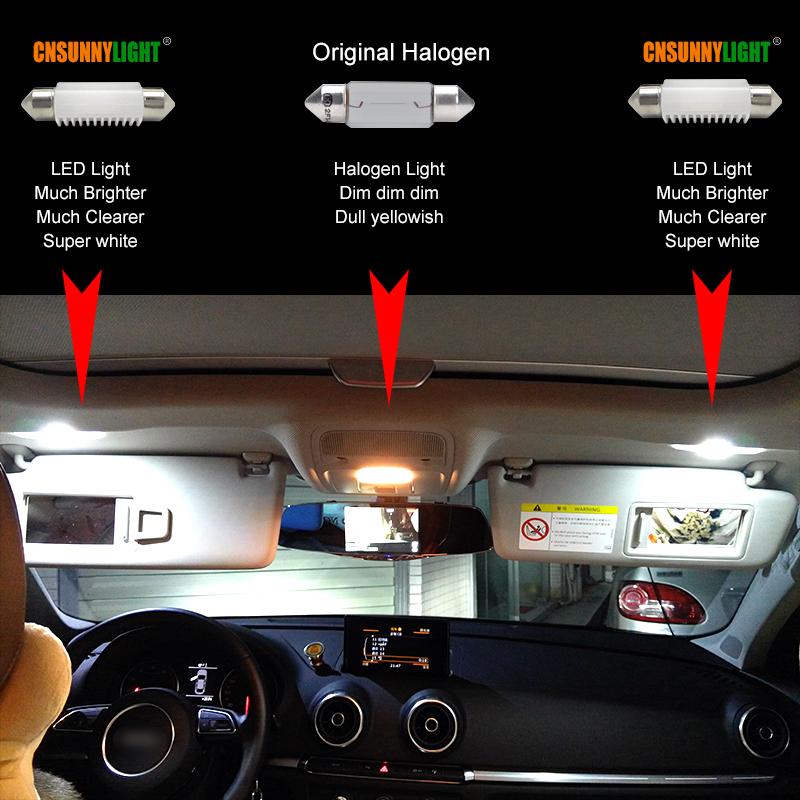 CNSUNNYLIGHT 4pcs C5W LED Car Festoon 31mm 36mm 39mm 41mm Dome Interior Reading Light Map Lamp License Plate Bulb DC 12V 24V Error Free (18)