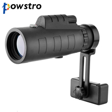 Powstro 40x60 HD Zoom Optical Monocular Telescope Phone Lens Observing Survey Camping Telescope With Holder For All Phone(China)