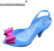 High fashion sexy goddess love jelly shoes with metal hearts fish mouth plastic shoes crystal wedding shoes sexy sandals