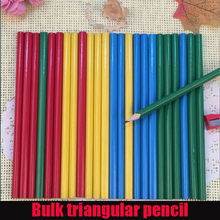 20pcs / lot Cheap Children bulk HB environmentally pencil drawing students to write logs hexagonal wooden pencil