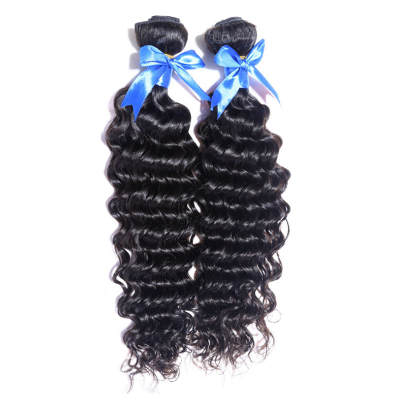 full end soft hair mongolian deep curly hair wefts deep wave hair bundles 2pcs human hair extension natural black full ends soft<br><br>Aliexpress