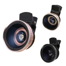 New HD 2 in 1 Tiny Clip-on Universal Phone Lens 0.45x Super Wide Angle Lens 12.5x Super Macro Lens For IPhone HTC Samsung(China)