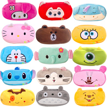 Cute Soft Plush School Pencil Case Kawaii Cartoon Pencilcase Large Penalty Kids Pen Bag Makeup Cosmetic Zipper Stationery Box(China)
