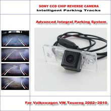 Buy Intelligent Parking Tracks Rear Camera Volkswagen VW Touareg 2002~2010 Backup Reverse NTSC RCA AUX HD SONY CCD 580 TV Lines for $44.96 in AliExpress store
