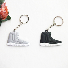 Mini Silicone Yeezy Boost 750 Key Chain Bag Charm Woman Men Kids Key Ring Gifts Key Holder Accessories Jordan Shoes Keychain