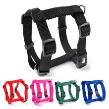 Nylon Adjustable Small Pet Puppy Dog Harness 4 Sizes XS S  M L 5 Colors Black Blue Red Green Rose