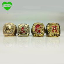 Replica Championship Ring 4 Set Alabama University 1992 2009 2011 2015 With Box Free Drop Shipping for father's day gift