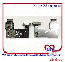 20pcs/lot Dual / Single Sim card holder slot For Motorola Moto G2 XT1068 XT1069 G 2nd Memory card holder Flex Cable