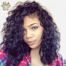 King Hair Brazilian Remy Hair Short Bob Wigs With Baby Hair Pre Plucked Hairline Lace Front Human Hair Wigs For Black Women(China)
