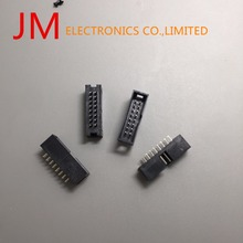 15Pcs Dc3-16P Straight Jtag Socket Connector 2.54Mm 2 Row 16 Pin For Flat Ribbon Cable