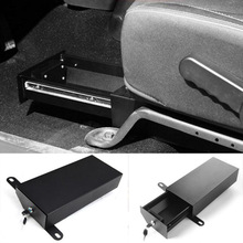 Newest Under Seats Lock Drawer Storage Box Anti Theft  Tool Tidy Stowing Steel For Jeep Wrangler 07 Up 4-Door Only Free Shipping