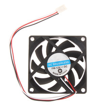 70x70x15mm DC 12V 3pin Portable Computer Cooler Small PC CPU Cooling Fan Heat sink(China)