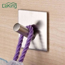 LeKing Stainless Stell Bathroom Hook Wall Hanger Wall Hook Clothes Hanger Rack Holders Home Kitchen Bathroom Accessories(China)