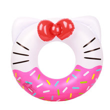 PVC Increase Hello Kitty Inflatable Swimming Ring For Kids Cute Life Buoy Swimming Circle Ring Pool Float Beach Party Toy