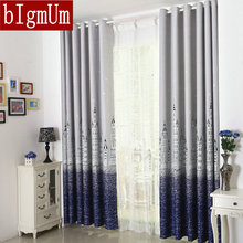 Hot Sale! Eco-friendly Printed Curtains For Kids / Children / Boys / Girls / Princess Customized Ready Made Blackout(China)