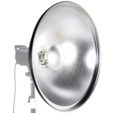 "ASHANKS 55cm / 22"" Studio Silver Beauty Dish Bowens Mount + Honeycomb Grid + Diffuser Sock + Soft Cloth"