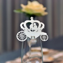 Ivory Laser Cut  Wheel Heart Lover Design 120PCS  wedding table name place card for Party Wedding Favors and gifts Decoration