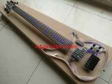 7 Strings Bass Electric Bass Rosewood fingerboard acrylic body Fingerboard & Acrylic Body with LED light