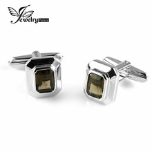 JewelryPalace Men 4ct Cufflinks Real 925 Sterling Sliver Men Jewelry Wedding Party Gift Fashion Cufflinks