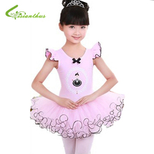2017 New princess Girls Swan Ballet Tutu Skate Dance dress Birthday Party Dresses girls Dancing show Clothes Free shipping(China)