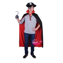 Shanghai Story man Halloween costume masquerade pirate cosplay costumes cloak + hat + hook stage performance clothes set