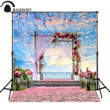 300*200cm(10ft*6.5ft) Road flower petals wedding background photography backdrops photo background
