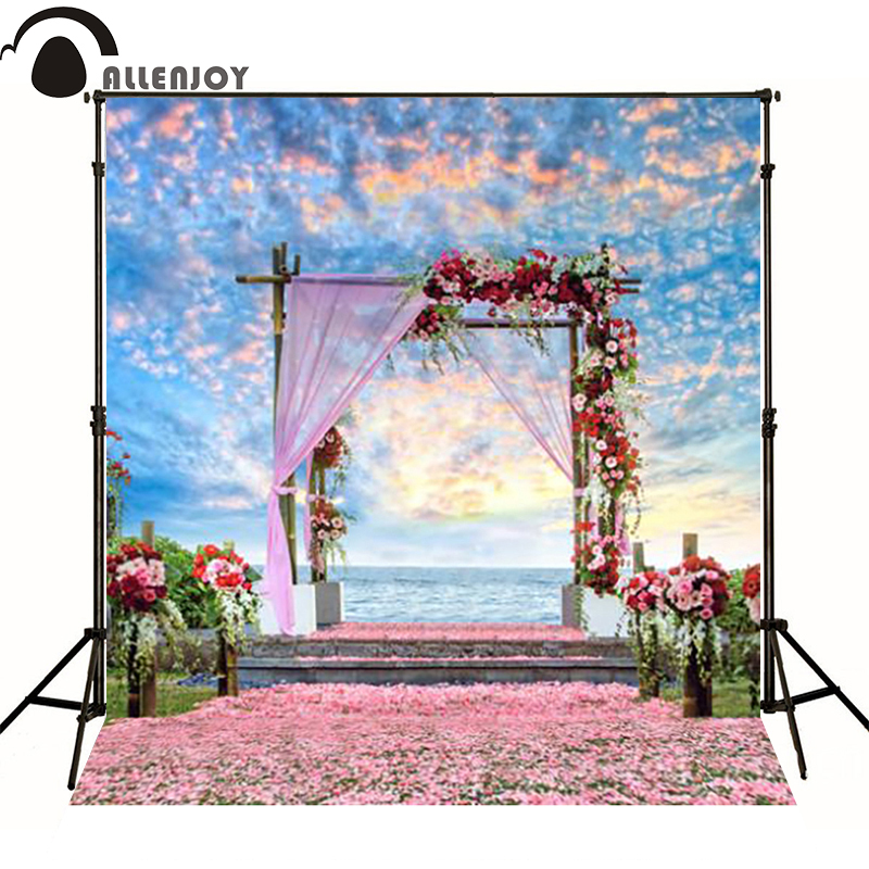 300*200cm(10ft*6.5ft) Road flower petals wedding background photography backdrops photo background<br><br>Aliexpress