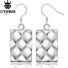 E376 silver earrings fashion high quality wholesale price promotion lady women girl friend CYPRIS(China)