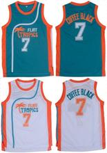 7# Throwback Basketball Jerseys Stitched Retro Movie Jersey Cool Shirt Jackie Moon Flint Tropical Man White Green Street