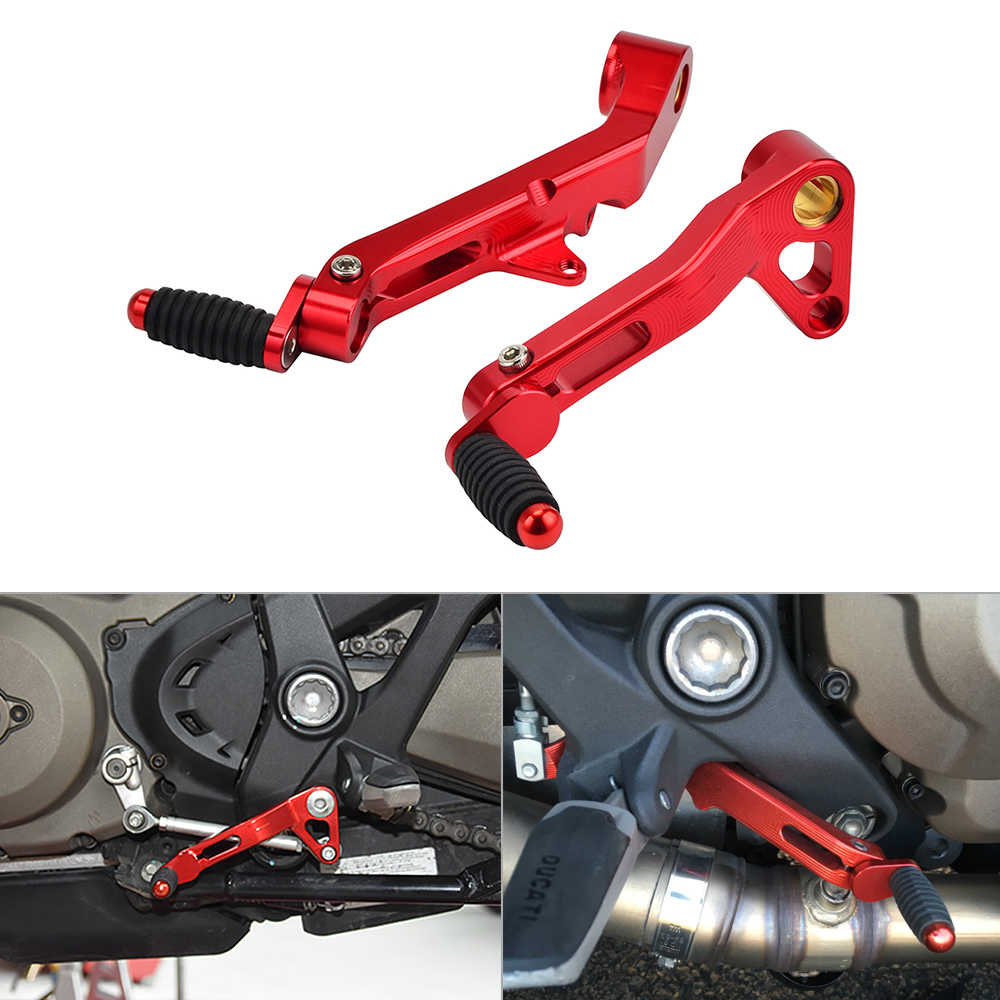 Red Aluminum Alloy Gear Shift Lever Shifter Pedal Peg for Motorcycle