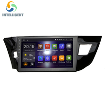 "10.2"" full touch screen 1024*600 HD Quad core RK3188 2 DIN Car DVD gps Android 5.1 For Toyota corolla 2014 with Radio GPS stereo"