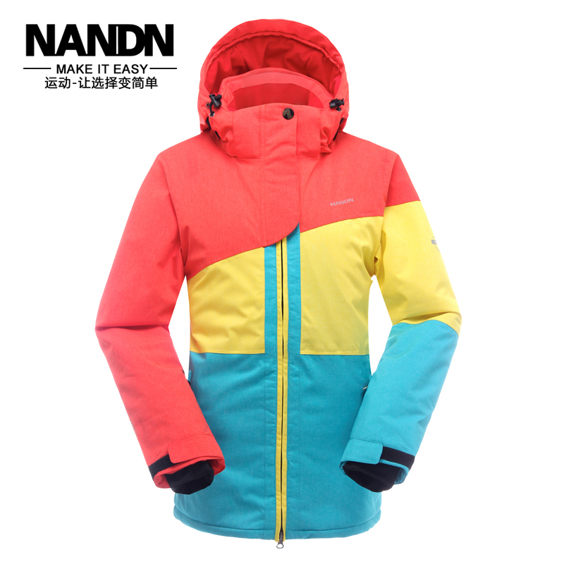 NANDN 2016 Womens Patchwork Ski Wear Waterproof Breathable Winter Thick Warm Outdoor Womens Jacket Ski Suit Skiing Wear WJ1501<br><br>Aliexpress