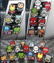 Car Styling Air Freshener Perfumes Cartoon Style The Avengers Star Wars For Captain America Car Air Conditioner Vent Perfume