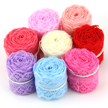 10Yard/Lot (9m) Width 30MM New Selling Lace Ribbon DIY Embroidered Net Lace Trim Fabric For Sewing Wedding Decoration 9 Colors
