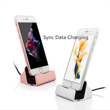 Original Sync Data Charging Dock Station Desktop Docking Charger USB Cable For iPhone 6s 7/plus For Samsung S8 Micro USB Type-C