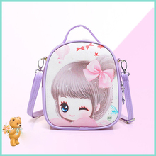 Cartoon Kids Girls Shoulder Bag Children PU Leather Mini Crossbody Baby Girl Schoolbag Book Bag Messenger Bag For Kindergarten(China)