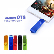 High Speed OTG USB Flash Drive 64GB 32GB 16GB 4GB Metal USB otg Pen Drive 128gb pendrive Memory Stick for smartphone/PC 2 in 1