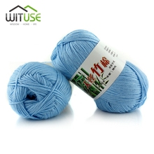 WITUSE 11.11 Promotion Sale 21 colors Skein Knitting Crochet Soft Natural Woolen Cotton Yarn For Clothes Sweater Hand Knitting(China)
