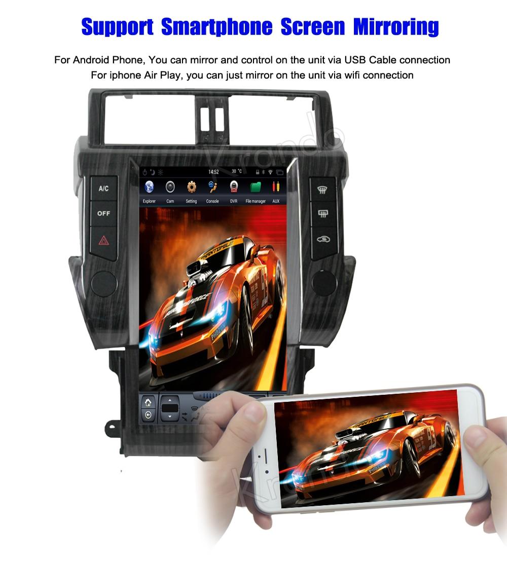 Krando toyota prado android car radio multimedia navigation with GPS system (4)