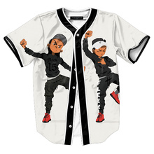 17The newMTS130 Mens Buttons Homme 3D Shirt Streetwear Tees Shirts Hip Hop Bel Air 23 - Fresh Prince Custom Made Baseball Jersey
