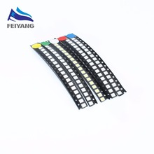 100PCS/LOT 2835 SMD White Red Blue Green Yellow 20pcs each Super Bright 2835 3528 SMD LED Diodes Package Kit(China)