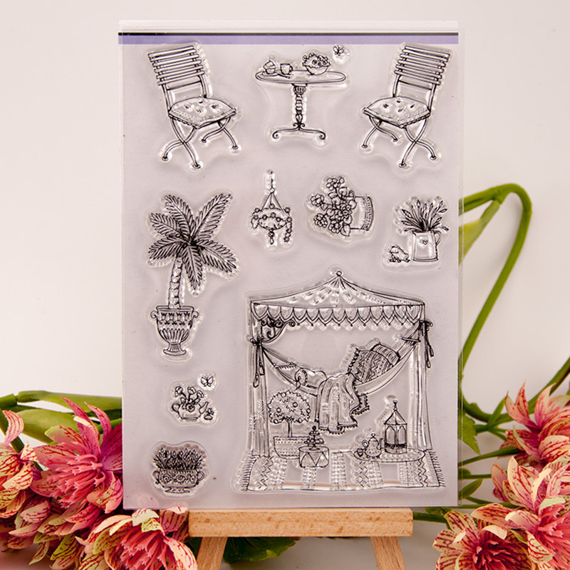 Garden Silicone Transparent Stamp Photo Cards Rubber Stamp DIY Clear Stamp Scrapbook Seal  for wedding gift christmas gift T0081<br><br>Aliexpress